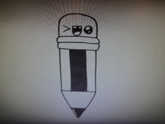 Dessin d'un crayon kawaii