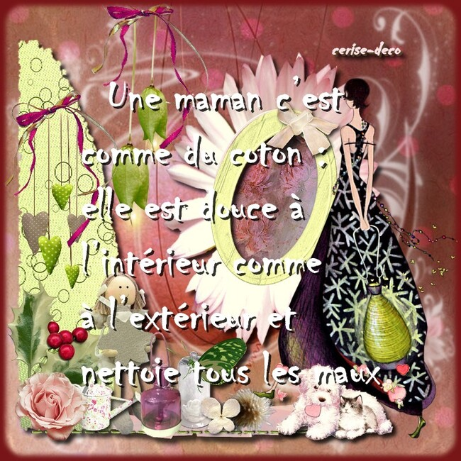 citation illustrée maman
