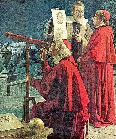 Galilée et deux cardinaux