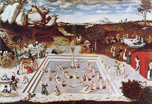Fontaine de Jouvence vue par le peintre Cranach en 1546