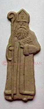 Biscuit Saint Nicolas 15cm - Arts et sculpture: sculpteur sur bois