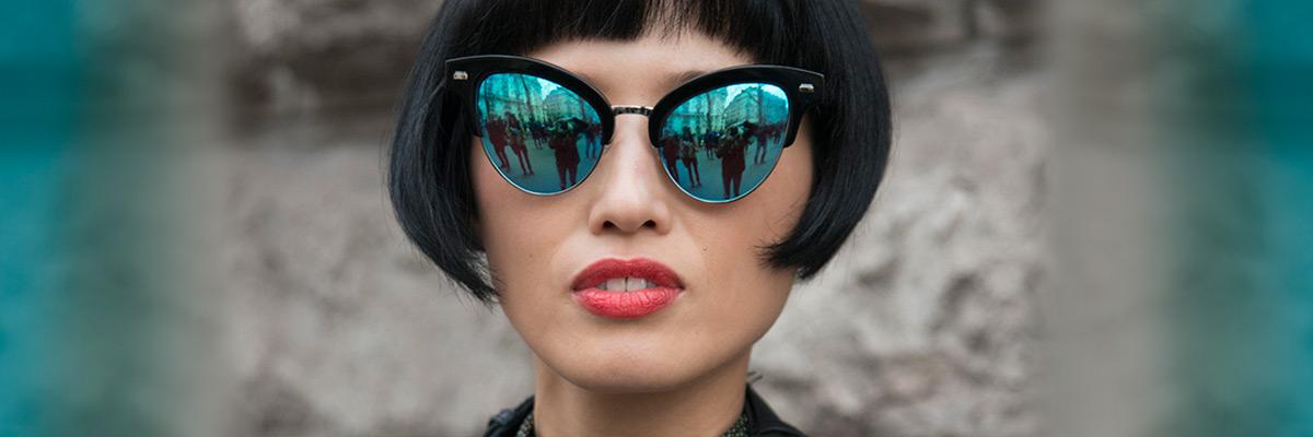 """Les lunettes """"effet miroir"""", oui ! On les porte même l'hiver ..."""