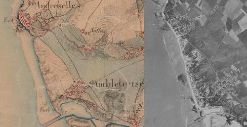 Ambleteuse (1850-1950)(remonterletemps.ign.fr)