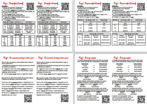 Leçons de Conjugaison CM2 avec QR Codes