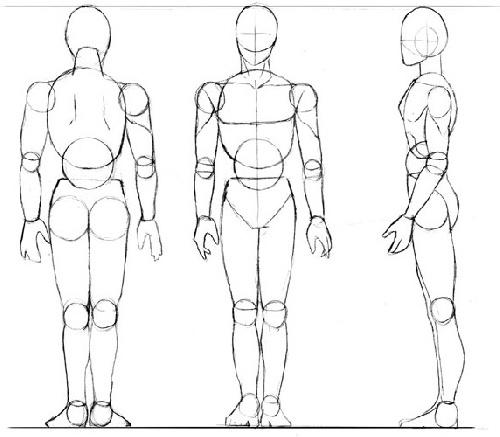 photo apprendre a dessiner corps