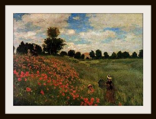 "gentil coquelicot /Claude Monet ""les coquelicots"""