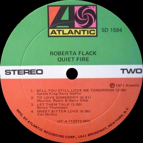 "Roberta Flack : Album "" Quiet Fire "" Atlantic Records SD 1594 [ US ]"