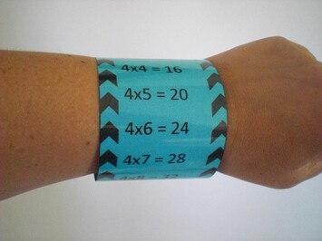 "Les bracelets ""Tables de multiplications"""