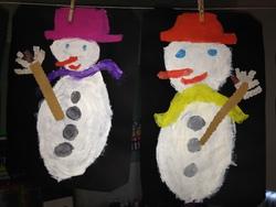 Les bonhommes de neige des CP