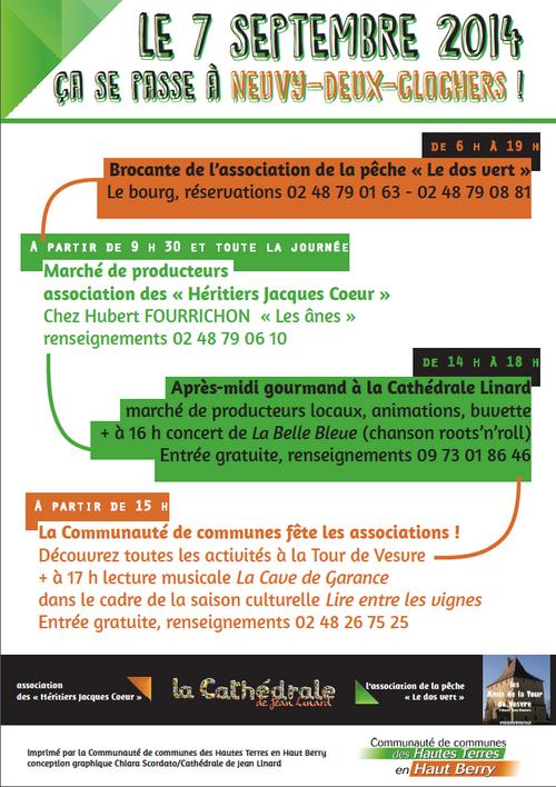 Dimanche 7 septembre à partir de 15h - Fête des associations de la Communauté de Communes des Hautes Terres en Haut-Berry