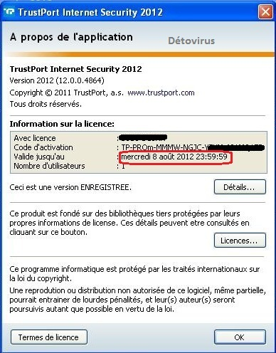 TrustPort Internet Security 2012 - Licence 90 jours gratuits