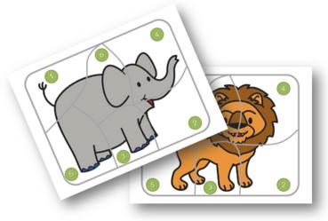 Eléphants et lions