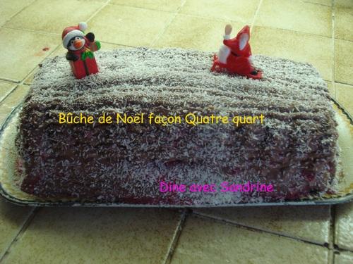 Une Bûche de Noël façon Quatre-quart