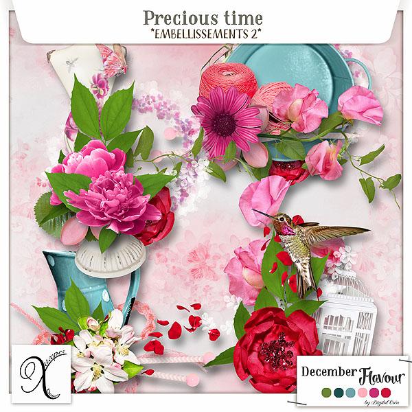 Precious time Embellissements 2 De Xuxper Designs