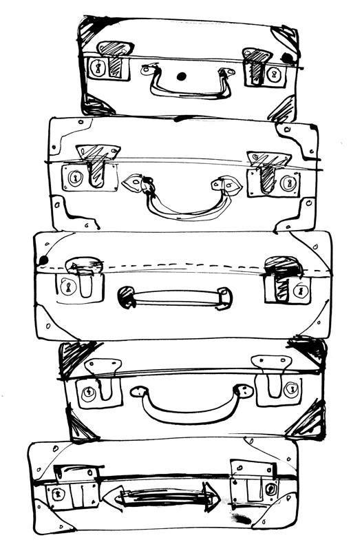 des valises pour Rome:
