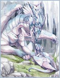 dragon avec son bébé - les manga