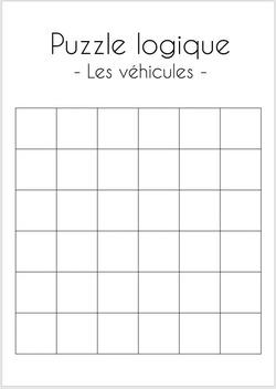 Puzzle logique (les véhicules)