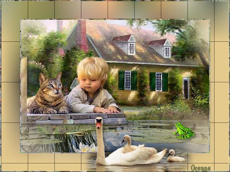 L enfant et son chat