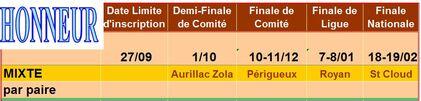 Compétitions: Les équipes saison 2016-2017: Mixte/2 Honneur