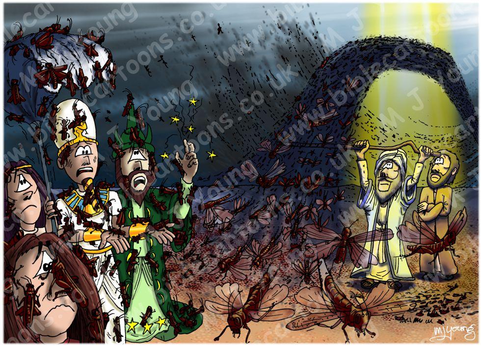 Exodus 10 - The ten plagues of Egypt - Plague of locusts