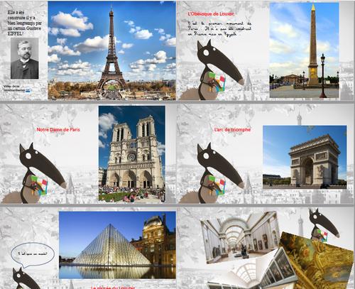 Le powerpoint pour Loup à Paris