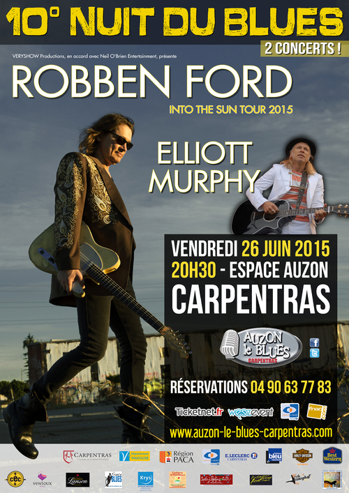 AUZON LE BLUES à CARPENTRAS : 10ème Nuit du Blues 2015