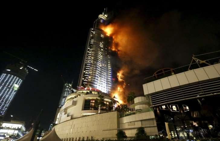 figarofr: Un feu s'est déclaré dans un hôtel de Dubaï.