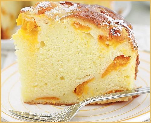 Gâteau au yaourt aux abricots