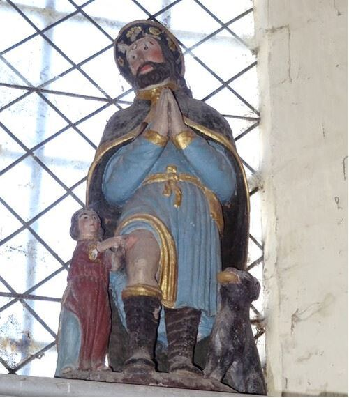 Saint Roch a été beaucoup invoqué et prié autrefois pour que les épidémies comme la peste ou  le choléra s'arrêtent.. ....