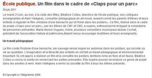 29/06/2011 - Un film dans le cadre de «Claps pour un parc»