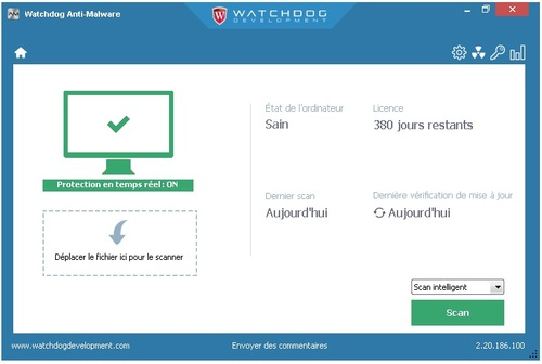 Watchdog Anti-Malware - Licence 380 jours gratuits