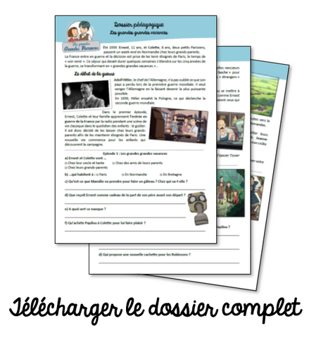 """Dossier sur la mini-série """"Les grandes Grandes Vacances"""""""