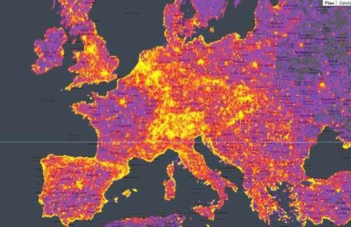 cartographie des lieux les plus photographiés au monde