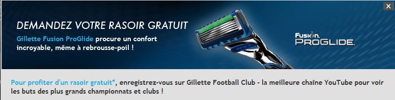 Résoir Gillette Fusion Proglide Offert
