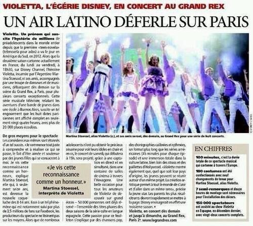 Violetta Partout! Même dans les journaux!
