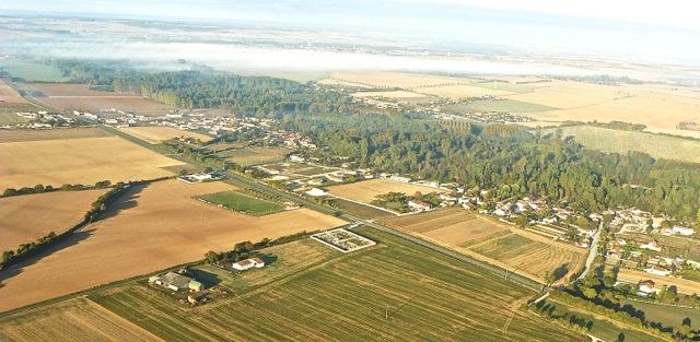 vue aérienne de Poursay-Garnaud