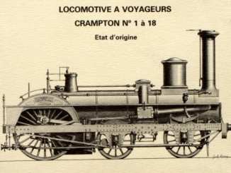 Illustration de la locomotive Crampton