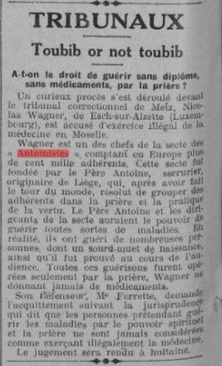 Toubib or not toubib (La Fronde, 24 juin 1927)