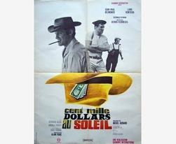 Affiche cinéma originale 1964.Cent mille dollars au soleil.Belmondo,Lino Ventura