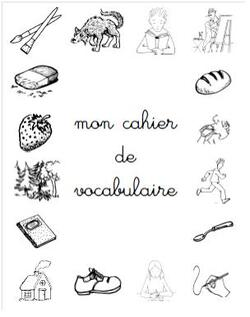 un cahier de vocabulaire nouvel article