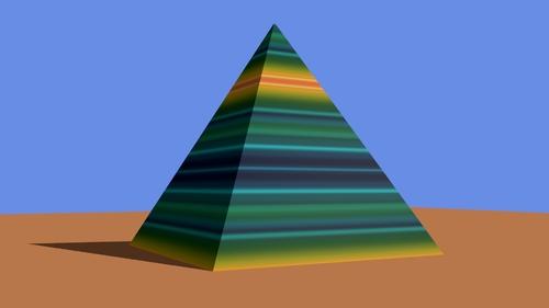 La pyramide mappé avec la première texture