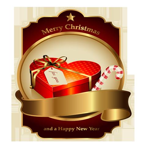 Tubes Noel/Nouvel An (2015) - thème Les Etiquettes - série 02