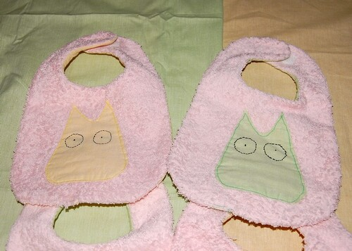 Sewing bib totoro simple