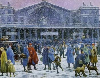 Maximilien Luce, La gare de l'est sous la neige