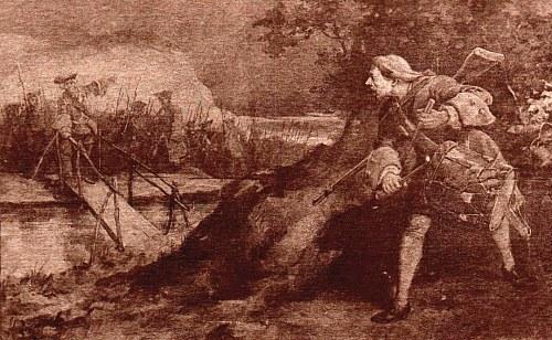 Michel Cabieu repoussant l'attaque anglaise à Ouistreham