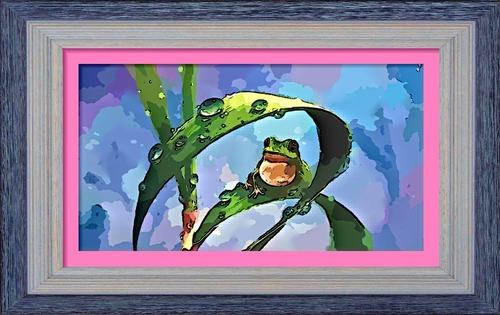 Dessin et peinture - vidéo 2462 : La grenouille dans la roselière (tuto) - peinture chinoise à l'aquarelle.