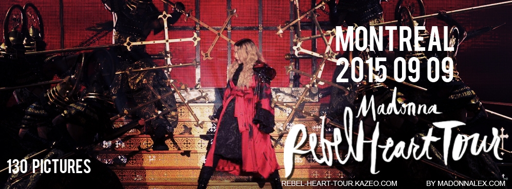 Madonna Rebel Heart Tour Montreal Medias