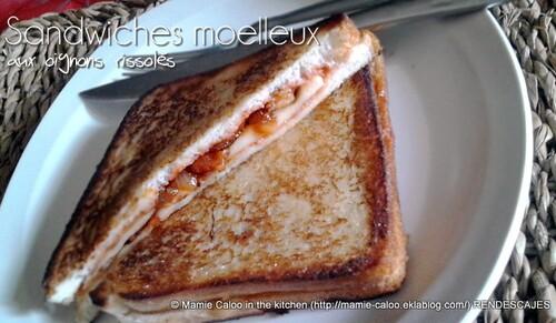 Sandwiches moelleux aux oignons