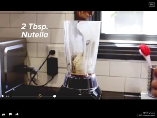 le milkshake au nutella
