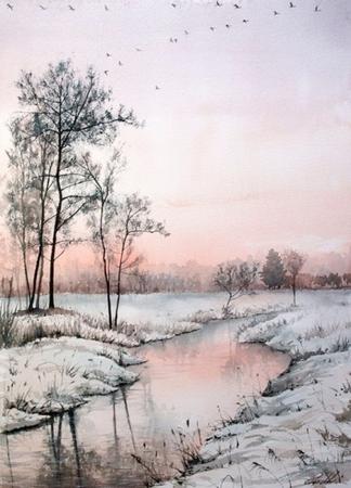 Résultats de recherche d'images pour «paysage hiver rose»